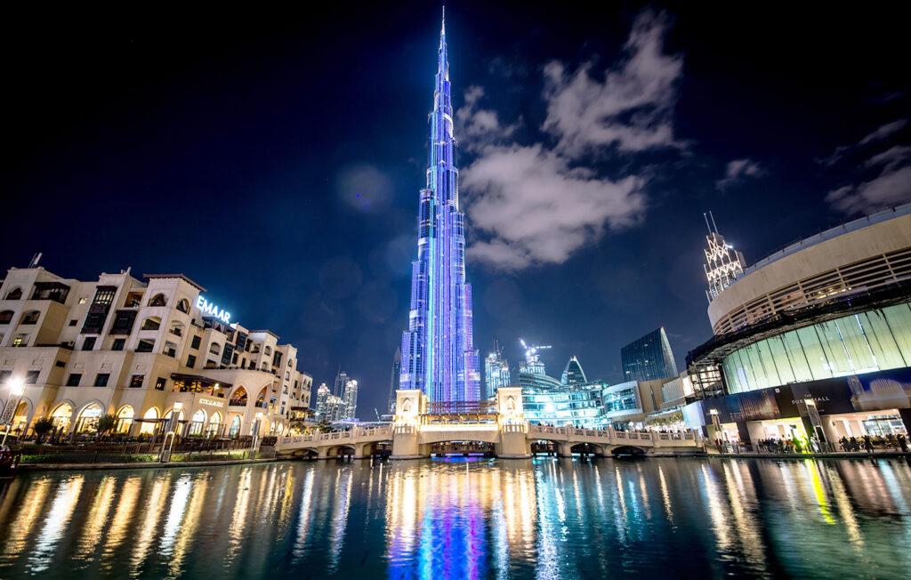 برج خلیفه در محله داون تاون دبی