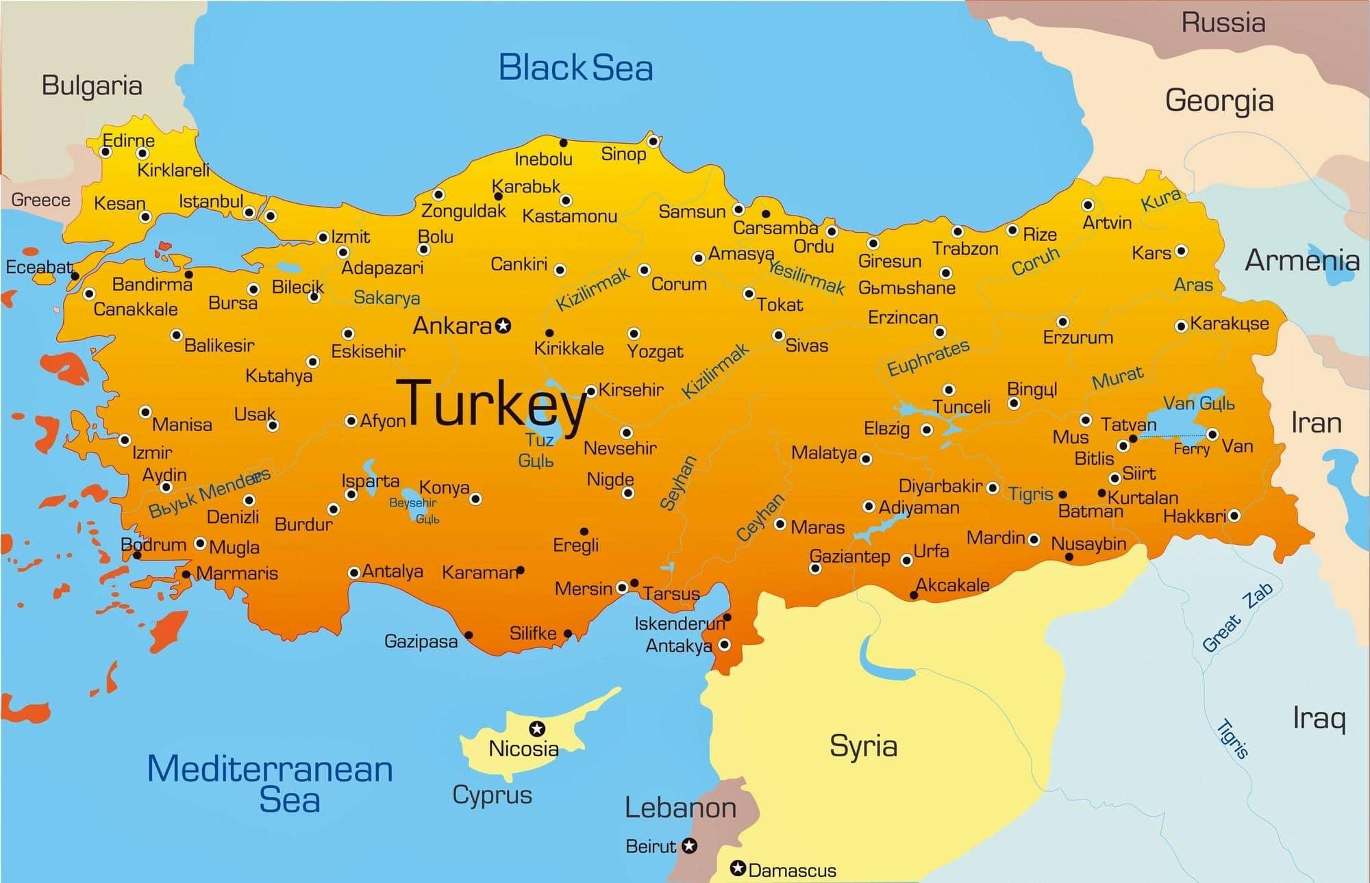 جغرافیای ترکیه